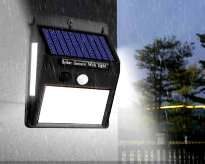 Lampara LED con panel solar para Exteriores
